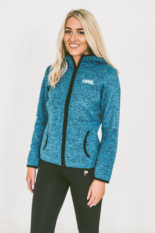 Womens Chur Giralang Knit Fleece - Sapphire  / Black Fleck