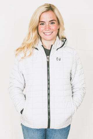 Ladies Chur Cantal Honeycomb Hooded Jacket - White