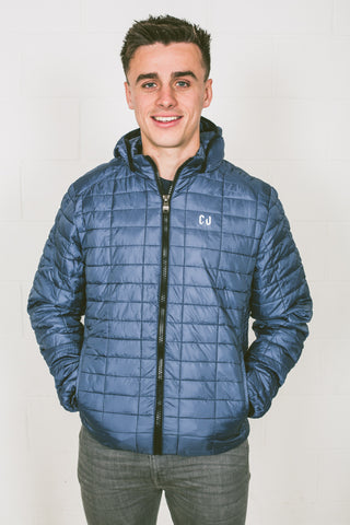 Chur Cantal Honeycomb Hooded Jacket - Navy