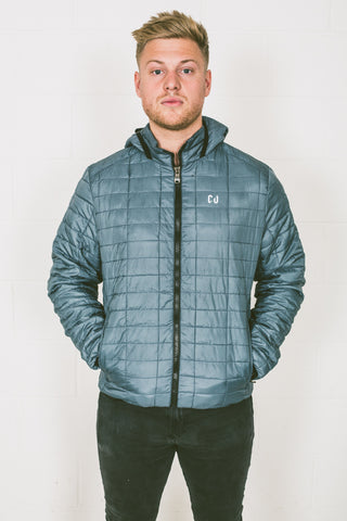 Chur Cantal Honeycomb Hooded Jacket -Steel