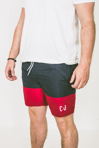 Chur Cantal Board Short – Navy / Red