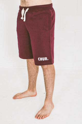 Chur Giralang Sweat Short – Burgundy