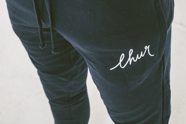 Chur Florey Tapered Sweatpants - Navy