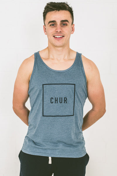 Chur Pautasso Singlet – Heather Slate