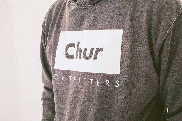Chur Chaun Washed Hoodie - Heather Charcoal