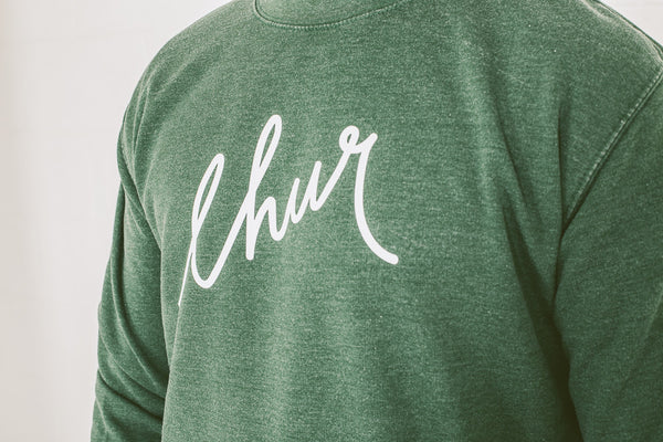 Chur Florey Washed Jumper - Forest Green