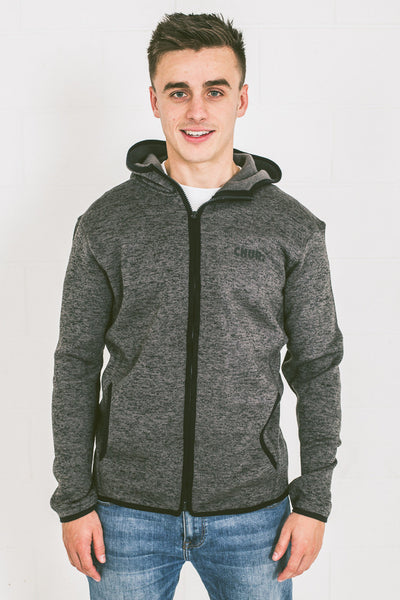 Chur Giralang Knit Fleece - Charcoal / Black Fleck