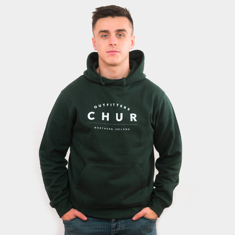 Northern Ireland Chur Hoodie - Forest Green