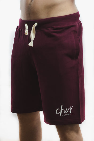 Chur Original Sweat Short – Burgundy