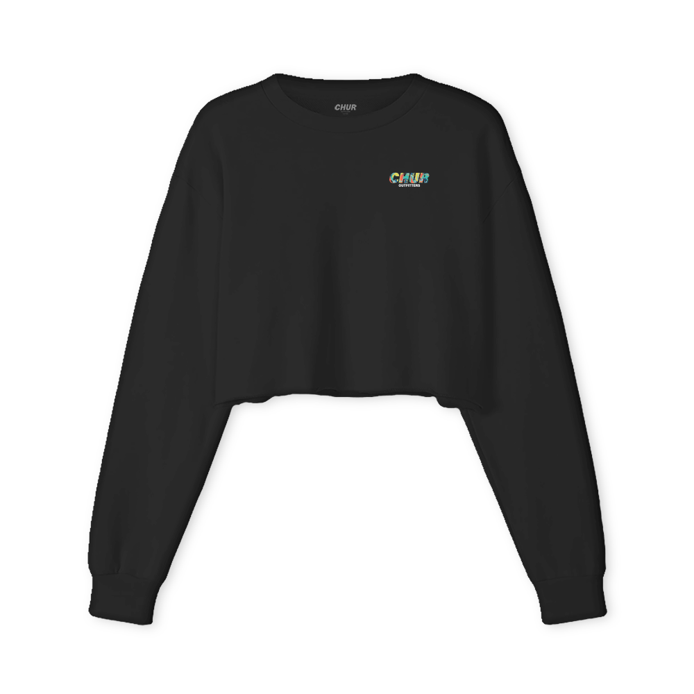 Chur Lamont  Fleece Crop Jumper - Black