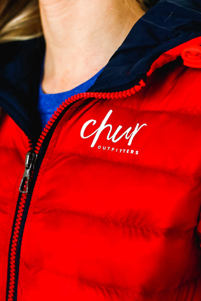 Womens Chur Origina Il Jacket – Red/ Navy