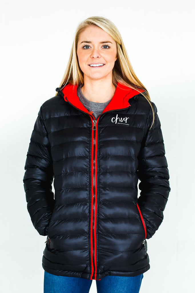 Womens Chur Original II  Jacket – Black / Red