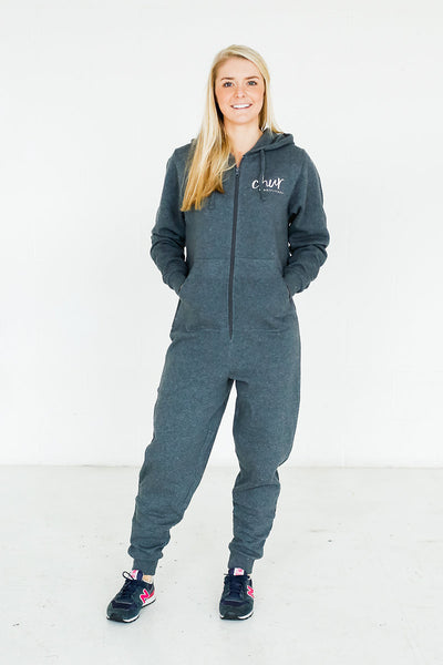 Womens Chur Onesie – Charcoal