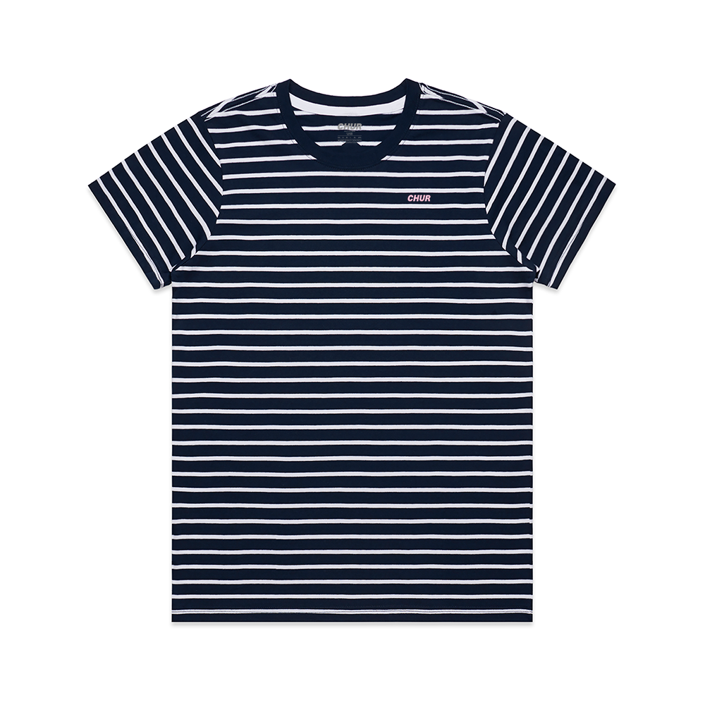 Chur Chapter Striped Tee - Navy & White