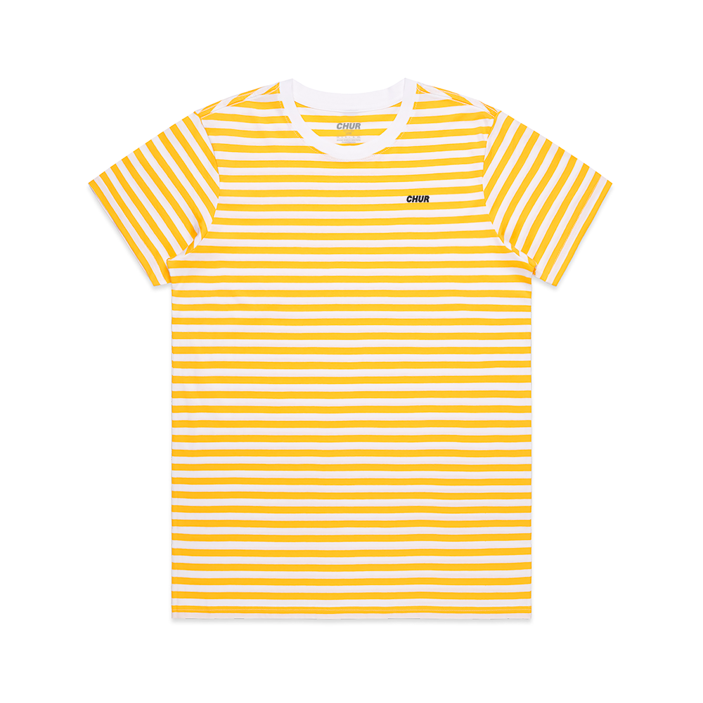 Chur Chapter Striped Tee - Yellow & White