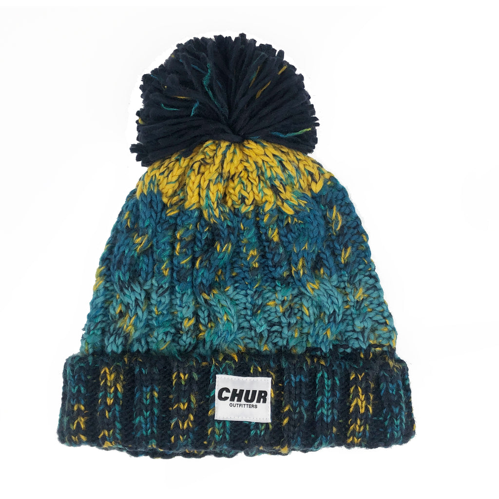 Chur Chapter Pom Pom Beanie - Marine Splash