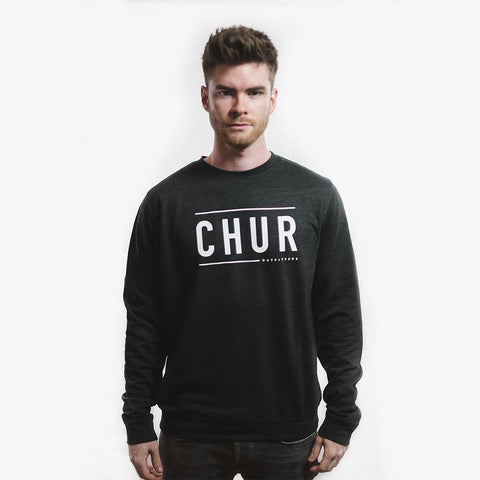 Chur Bruce Baseball Jumper - Heather Black