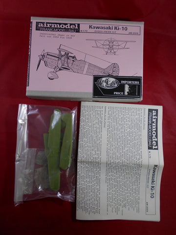 Airmodel Frank ModellBau kit 1/72 Kawasaki Ki-10 -Slight Shelf Wear / NO DECALS