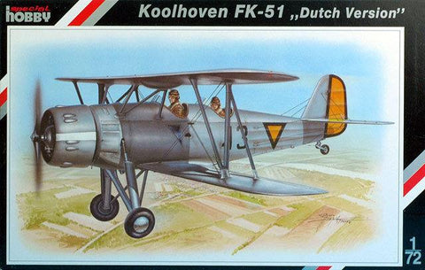 Special Hobby 1/72 scale Koolhoven FK-51 Dutch Version kit 72048 - NOS