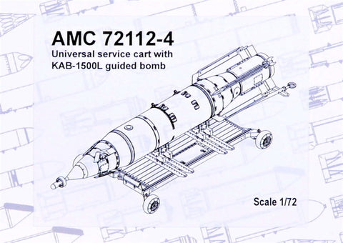 Advanced Modeling 1/72 Universal cart w/KAB-1500L guided bomb - AMC72112-4