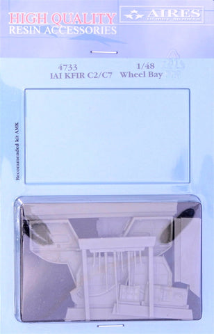 Aires 1/48 resin IAI Kfir C2/C7 wheel bay - 4733 for AMK kits