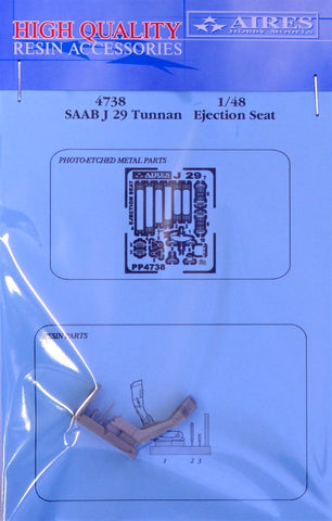 Aires 1/48 resin SAAB J 29 Tunnan ejection seat - 4738