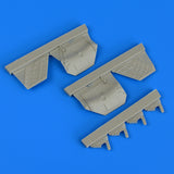 Quickboost 1/48 resin F/A-22A Raptor undercarriage covers - QB48798 for Hasegawa