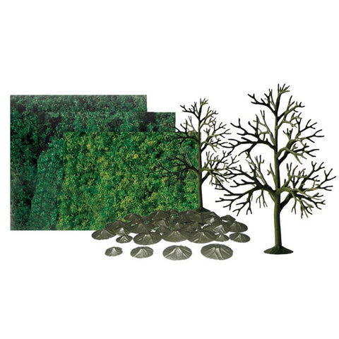 "SUPER SCENIC TREES: DECIDUOUS 6"" SCENIC KIT All-scales, 6/pk - #92067"