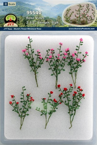 "JTT Scenery Products - O Scale - 95540 Rose Vines 2 1/2"" Length (6pack)"