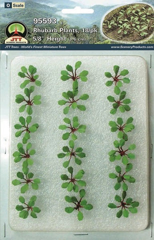 "JTT Scenery Products - O Scale - 95593 Rhubarb Plants 5/8""  - 18pcs."