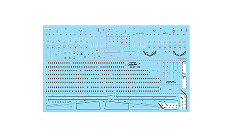 Fundekals 1/144 scale decals Boeing 737NG Factory Data Stencils - 44-011
