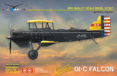 Lukgraph 1/32 Curtiss 01-C Falcon Resin Kit (Multi Media kit) Special Ed - 32-04