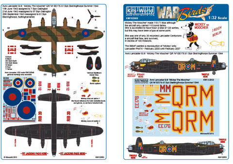 Kits-World 1/32 decals Avro Lancaster B.III Mickey The Moocher HK Models 132053