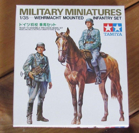 Tamiya Models 1/35 Figures WEHRMACHT MOUNTED INFANTRY SET- 3553 Old Stock