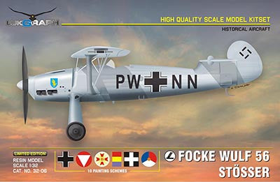 Lukgraph 1/32 Focke Wulf 56 Stosser Resin Kit (Multi Media kit) - 32-06