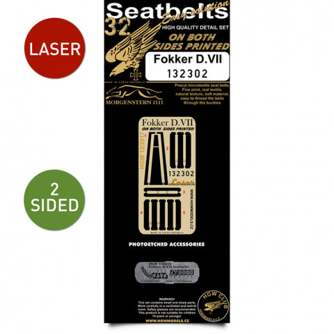 HGW 1/32 Scale Double-Sided Seatbelts - Fokker D.VII - 132302 - model accessory