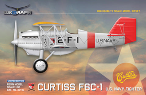 Lukgraph 1/32 scale Curtis F6C-1 US Navy Fighter aircraft resin kit 32-16