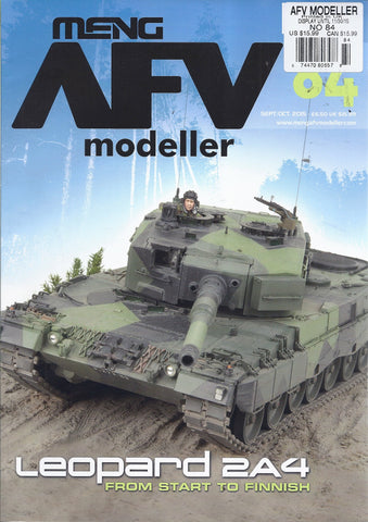 Meng AFV Modeller Magazine #84 Sept/Oct 2015 Leopard 2A4 From Start to Finish