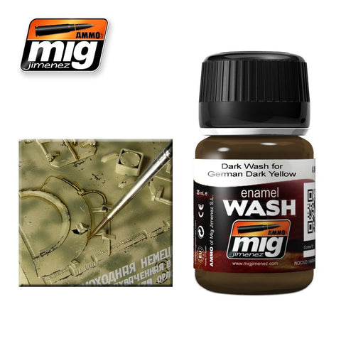 BROWN WASH FOR GERMAN DARK YELLOW A.MIG-1000 Ammo Mig Jimenez