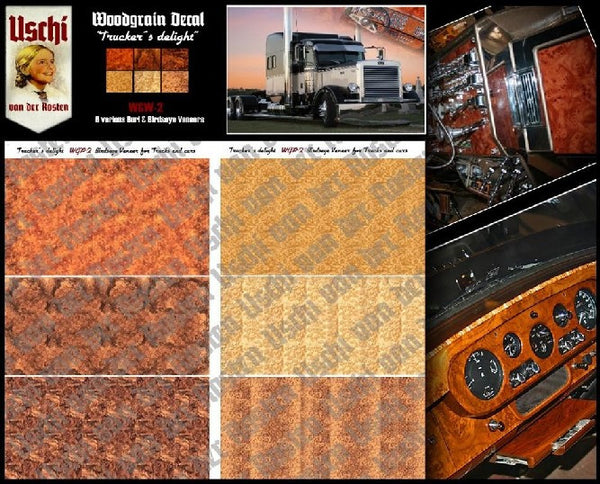 trucker s delight interior wood grain uschi decals for 1 25 model tr victory models. Black Bedroom Furniture Sets. Home Design Ideas