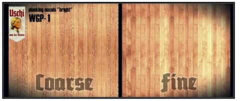 Uschi 1/48 1/32 1/35 scale wood decals - Bright Planking Coarse and Fine - #1010