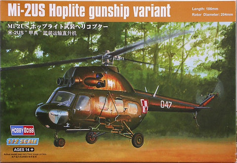 Hobby Boss 1:72 Mi-2US Gunship - 87242 - from collection