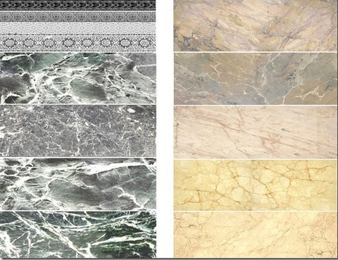 Uschi Multi scale marble decals Black/Beige for flooring, buildings & other dior