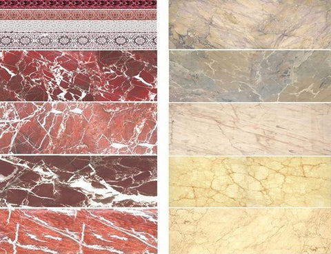 Uschi Multi-scale Marble Decals Red/Beige for Flooring, Buildings, Diorama Details