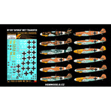 HGW 1/48 wet transfer stencils Messerschmitt Bf109 Afrika for Eduard - 248050