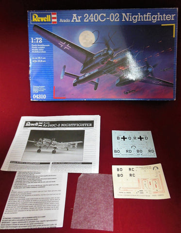 Revell 1/72 scale Arado Ar 240C-02 Nightfighter- 04310 2 kits 1 decal 1 Inst