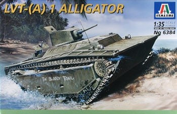 ITALERI 1/35 scale LVT-(A) 1 ALLIGATOR armor kit #6384