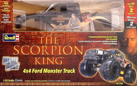 "REVELL 1/25   ""The Scorpion King""  /  4x4 FORD MONSTER TRUCK / METAL BODY"