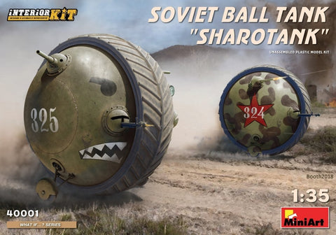 MiniArt 1/35 scale SHAROTANK Soviet Ball Tank- kit#40001