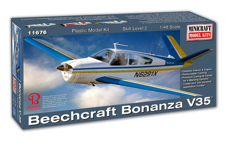MINICRAFT 1/48 scale BEECHCRAFT BONANZA V-35 kit - 11676